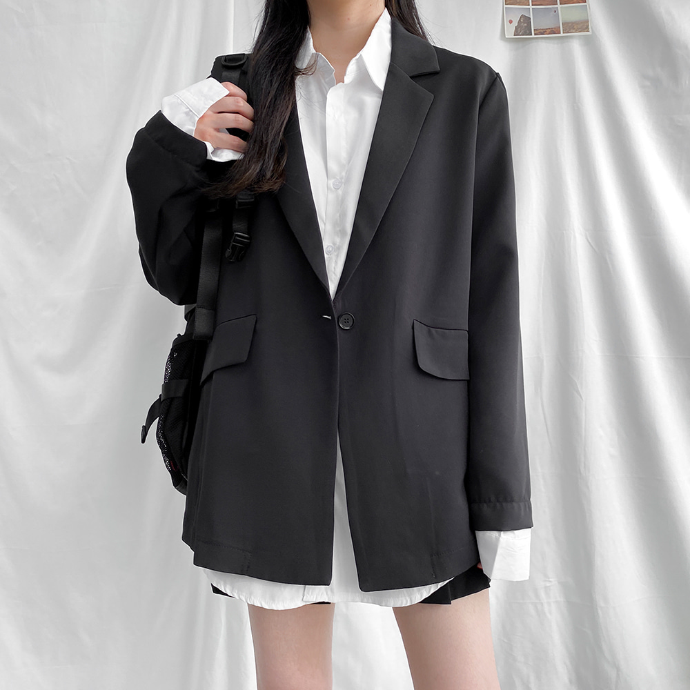 [무료배송]오케이 블레이저자켓 <br> 스탠다드자켓 베이직자켓 아우터 포멀핏 심플